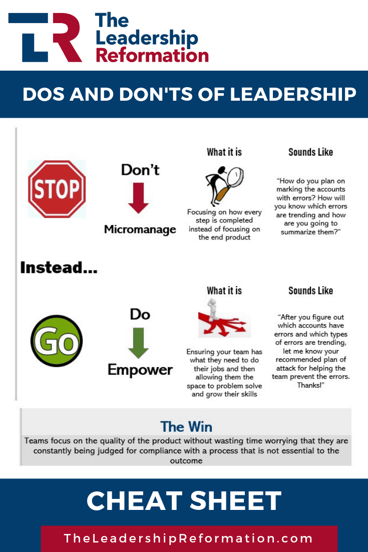 Dos and Don'ts in Leadership Empower Delegate Accountability Relationships