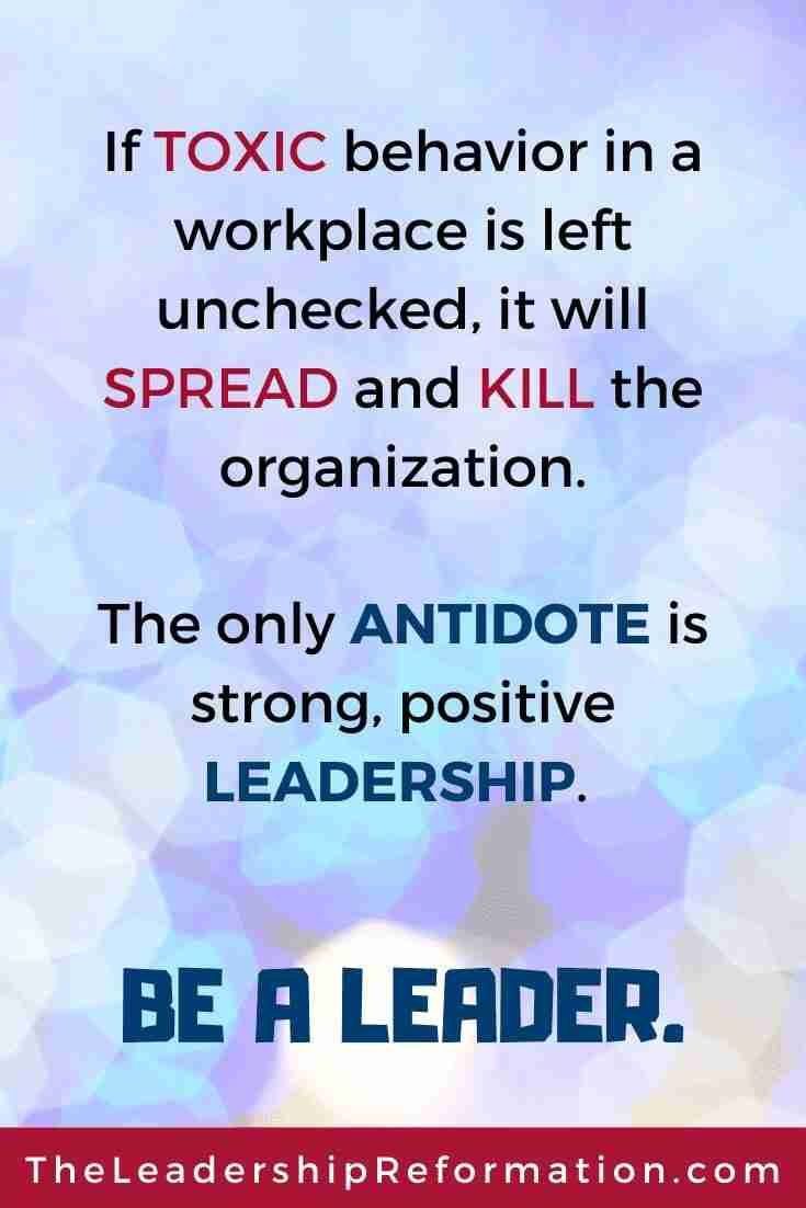 Toxic Workplace Leadership Hacks Quote