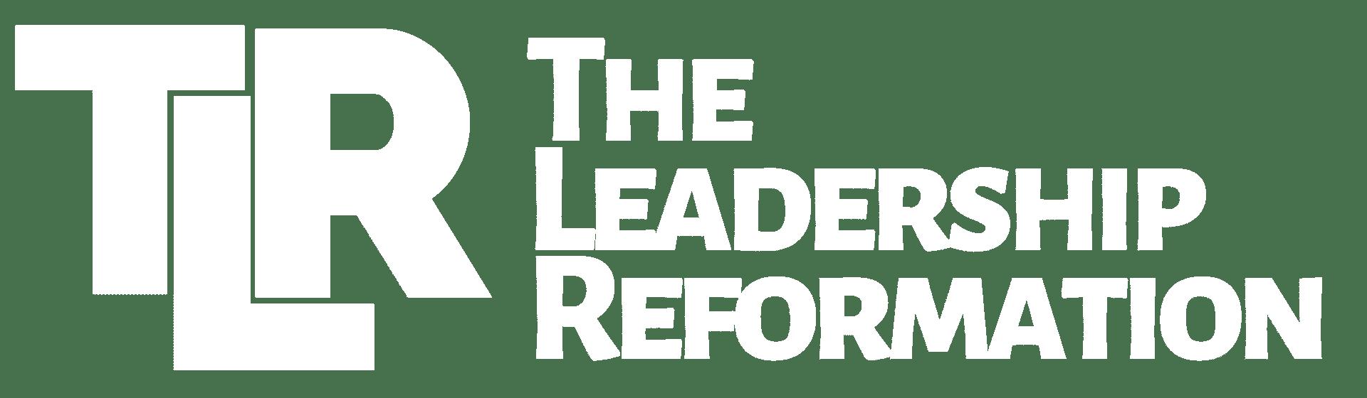 New Logo TLR - Transparent Background WHITE Letters